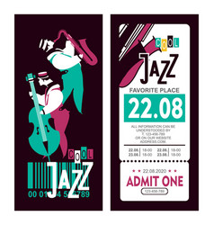 jazz festival poster vector image vector image