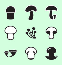 mushroom icon or logo isolated vector image