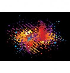 paint blackstripe vector image vector image