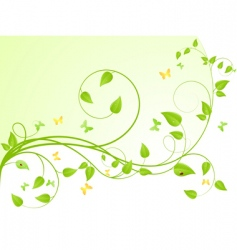 plant background vector image vector image