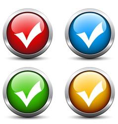 Positive checkmark buttons vector