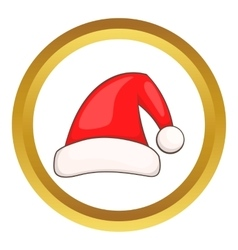 Santa claus red hat icon vector