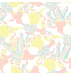 Seamless pattern with hand drawn peony flowers vector