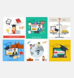 set education concepts vector image vector image