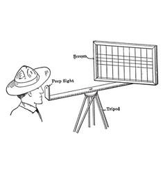 Sketching screen cursor control vintage engraving vector