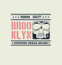 Vintage urban typography vector