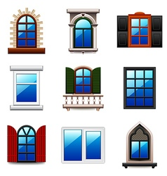 Windows icons set vector image vector image