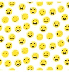 Yellow round smile emoji seamless pattern vector