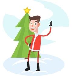 Funny Stylish Santa vector image