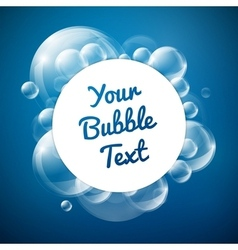 Bubbles with white circle card vector image