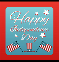 Happy 4 th of july card united states of america vector