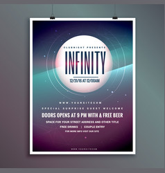 Party invitation flyer templatewith colorful vector