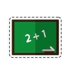 cartoon chalkboard class school chalk vector image