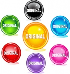 original buttons vector image