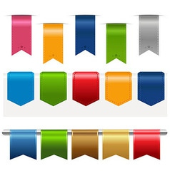 Big ribbons set vector