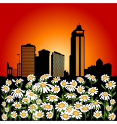 urban flowers vector image