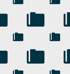 Document folder icon sign seamless pattern with vector