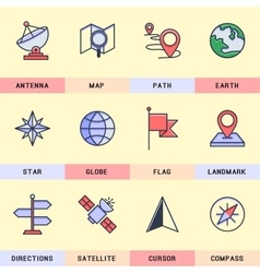 Set of icons in the flat style vector