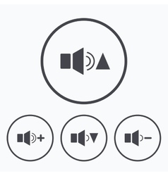 Player control icons sound louder and quieter vector