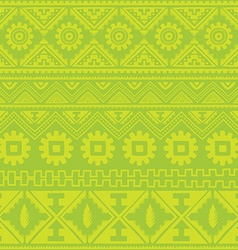 Light green native american ethnic pattern vector