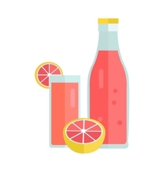 Cold summer drink concept vector
