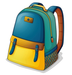 A colorful back pack vector image vector image