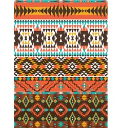 Aztec colorful geometric seamless pattern vector