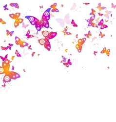 Background of flying butterflies vector