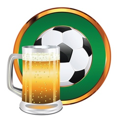 Beer and Soccer Ball4 vector image vector image