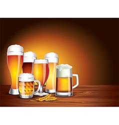 beer jars background vector image