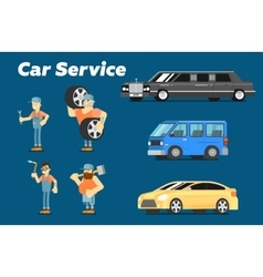 Car repair service concept banner vector
