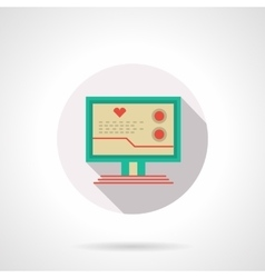 Cardiology online flat color design icon vector image vector image