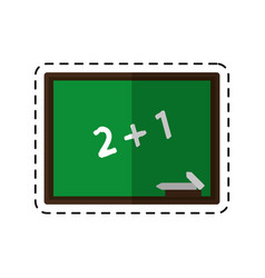 cartoon chalkboard class school chalk vector image
