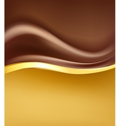 Chocolate creamy backgorund vector