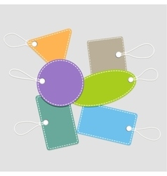 Collection of shopping tags with rope vector image vector image
