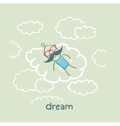 dream vector image vector image