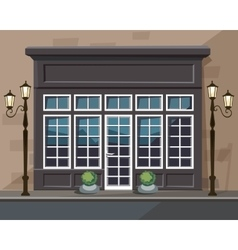 Europian Shop Museum Restaurant Store with Windows vector image vector image