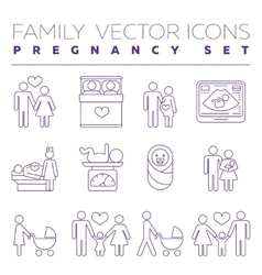 Family health care and pregnancy medicine thin vector image