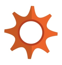 Gears cog or wheel isolated icon vector image