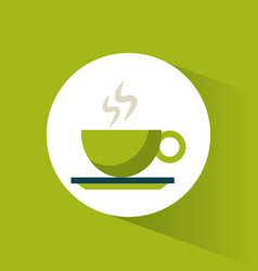 green coffee cup hot vector image