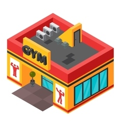 gym isometric building isolated vector image vector image