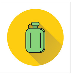 Hip flask simple icon on circle background vector