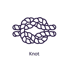 icon of knot on a white background vector image