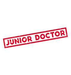 junior doctor rubber stamp vector image