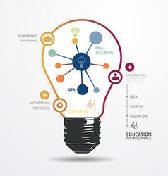 Modern design light dot minimal style infographic vector