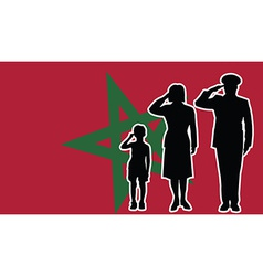 Morocco soldier family salute vector