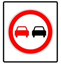 No overtaking road traffic sign icon in flat style vector image vector image