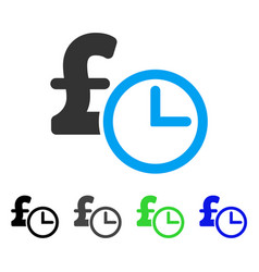 Pound credit flat icon vector