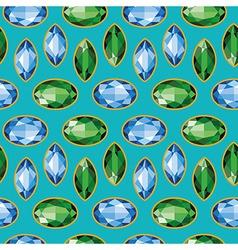 Sapphires emeralds seamless texture vector