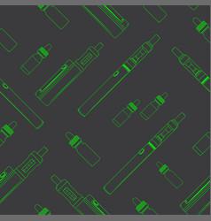 Seamless vape pattern vector